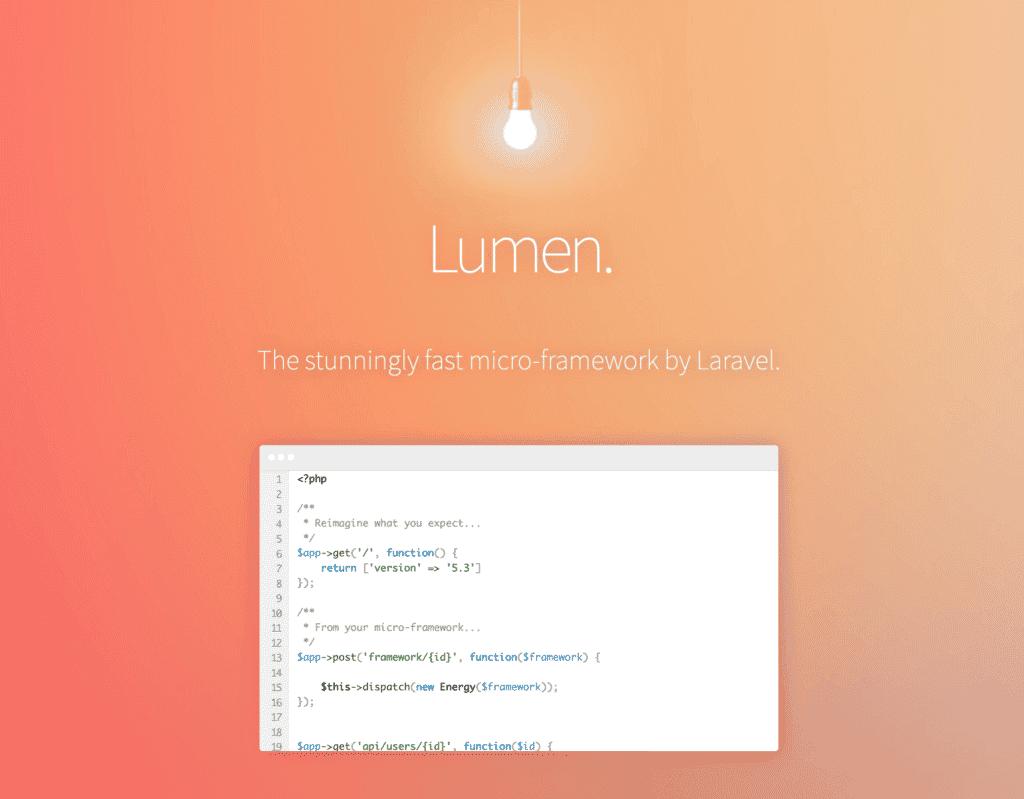 Password protection storage with Lumen