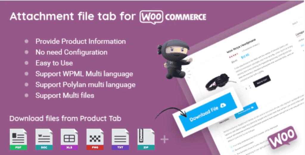 WooCommerce Product Files Tab