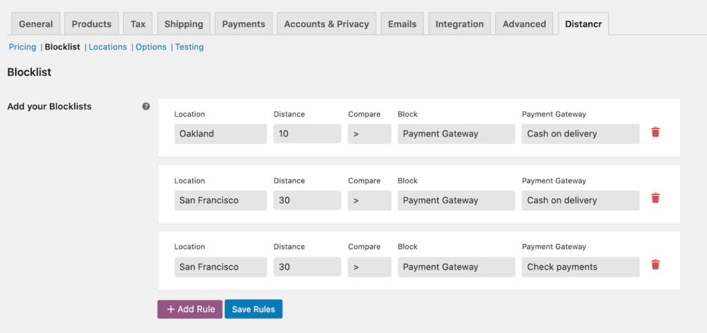 Payment gateway blocklist