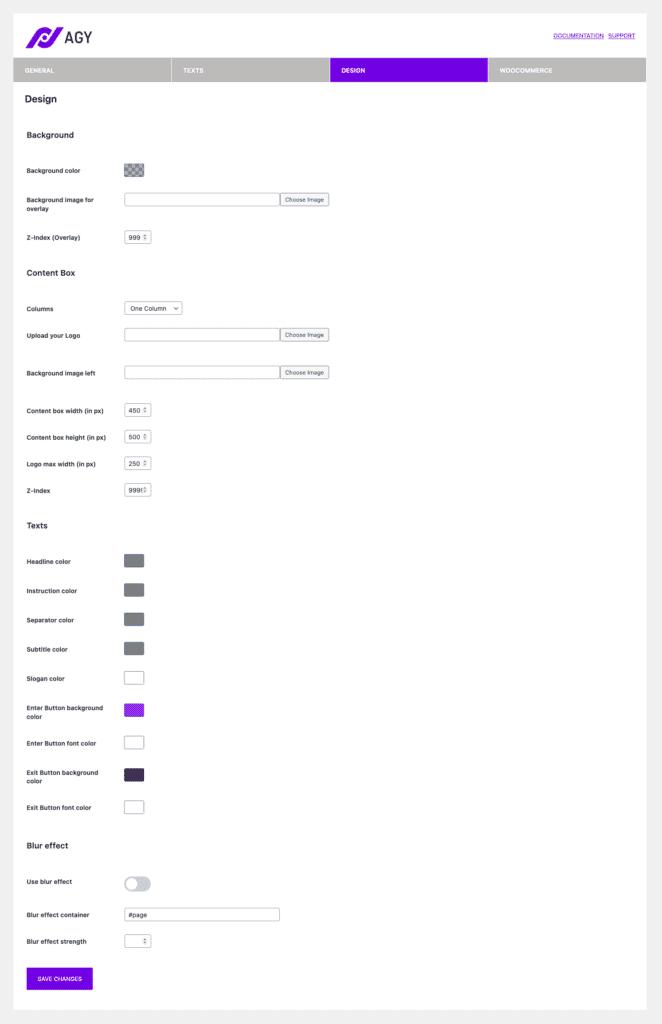 Design Settings 1